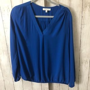 Light and airy blue long sleeve blouse size L